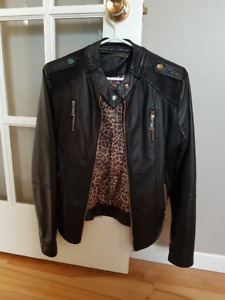 Suzy Shier faux leather jacket Medium