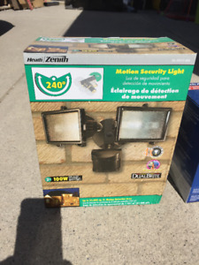 Motion Sensor Security Lights- Zenith 2x 100W- 240deg range