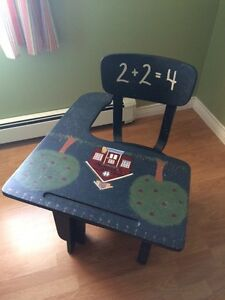 Vintage School Desk decorated - I accept credit card