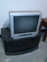 FREE TV STAND / TV / 2 SMALL TABLES