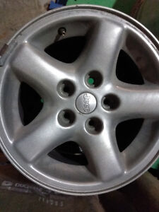 4 Jeep Rims from 2000 Jeep Cherokee Sport 16.5 inch Silver