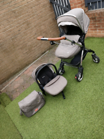 Silver cross push chair and carseat