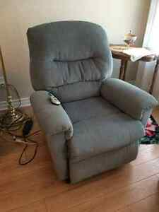 Power recliner with lift