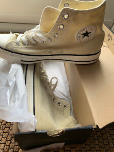 Converse Chuck Taylor All Star Washed Textile High Top in NaturalEgretBlack