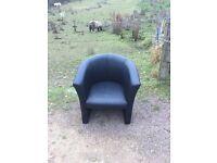 Office chair leather style x2 bedroom bedsit studio flat etc