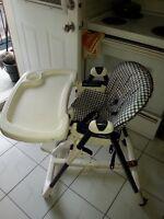 chaise haute peg perego pas cher- besoin de place