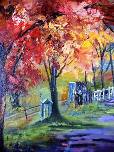 """Horse and Buggy Trail by M McKay """"Old Country Road"""" 1950's Stratford Kitchener Area image 8"""
