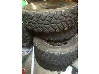 Suzuki Jimny off roading tyres with wheels