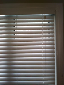 2 inch faux wood blinds, white, 34 in x 72 in, price for all 4