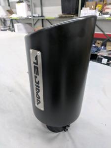 Big monster Black Diesel/gas Exhaust Tip- wrinkle coated- Tejima