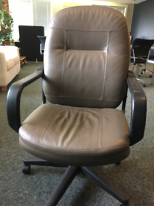 Leather office chairs - all 7 for $150