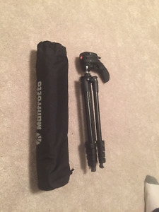 Compact + Lightweight Manfrotto Camera Tripod - Mint Condition