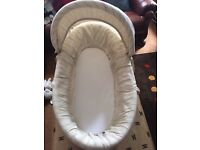 Baby bear Moses basket stand bedding £35