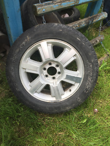 """4-20"""" FORD F-150 RIMS GREAT SHAPE HAS TIRES & CAPS"""