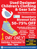 Montgomery Used Designer Children's Clothing&Gear Sale Sept.19th