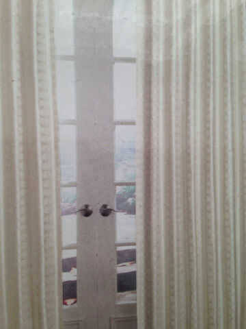 NEW!!!   4 NEW IVORY CURTAIN PANELS