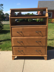 Ikea Dresser/Change Table Solid Wood