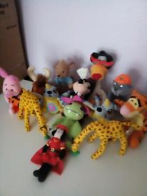 13 Vintage Disney Character Toys McDonalds 1997-2002 good clean cond!