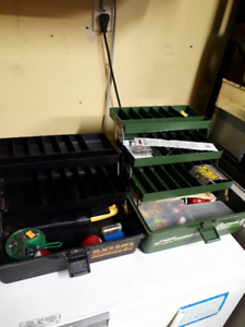 2 Fishing Tackle Boxes With Some Gear