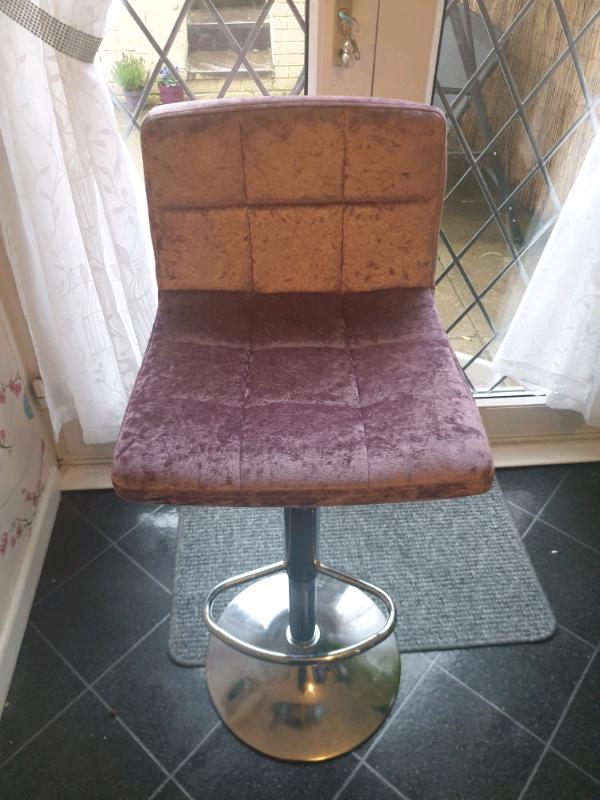 2 purple Crushed Velvet Bar Stools   in Caerau, Cardiff ...