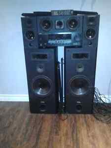 Yamaha reciever with speakers