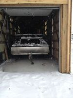 Enclosed Double sled trailer