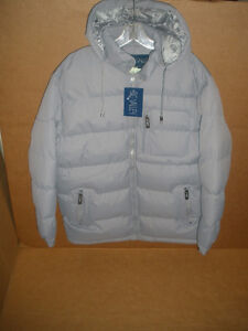 NEW!!!  BIG VALLEY Light Gray, Hooded Winter Coat, Size S London Ontario image 1