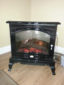 Electric fireplace woodstove
