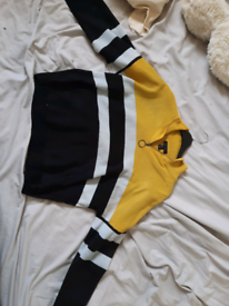 NewLook yellow and black jumper with zip