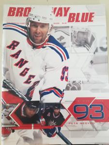 Programme de game Rangers de NewYork Hockey