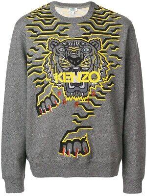 Kenzo Grey Geo Tiger Sweatshirt Size Medium