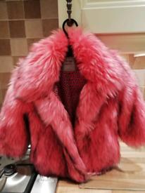 Fur girls coat.