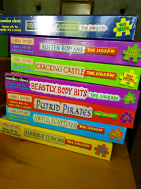 Horrible Histories jigsaw puzzle set