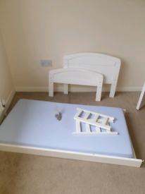 REDUCED TO £30 East Coast cot bed with nearly new mattress.