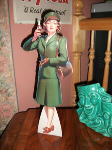 Ext RaRe original Service GIRL coca cola coke AIR HOSTESS sign