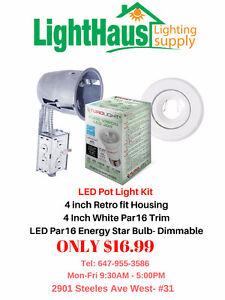 LED Pot lights & Bulbs