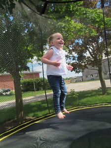 Spring Free Trampoline with basketball net