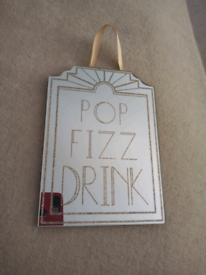 Small hanging mirror - Cocktail theme