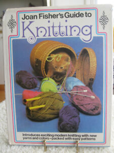 JOAN FISHER'S GUIDE to KNITTING / HARD COVER BOOK