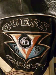 RARE Guess leather jacket