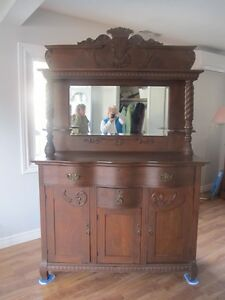 beautiful condition antique buffet with hutch