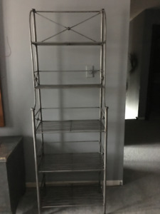SOLID WROUGHT IRON 5 SHELF 'BAKERS RACK'-PAIR