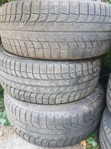 3 MICHELIN  215/55/17  WINTER TIRES