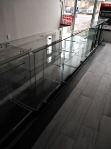 glass display units for sale  4 units with glass and shelves