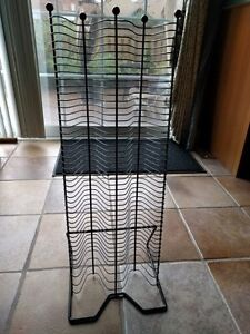 Black Wire CD Tower Rack GREAT CONDITION, LIKE NEW