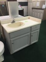 39 inch vanity with countertop and sink