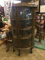 Antique curio cabinet smaller size with key