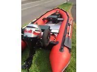4 Metre C Sport Fast Fun Rib accompanied by a 4 Stroke 9.9 Mariner outboard