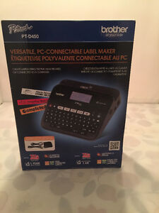 New! PT-D450 Versatile, PC-Connectable Label Maker sealed