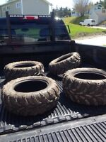 14 inch side by side tires